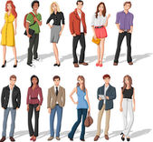 fashion cartoon young