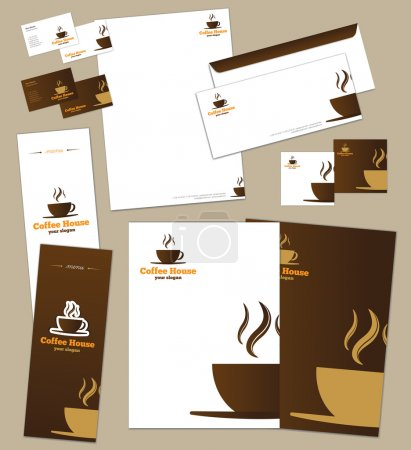 Illustration for Corporate identity template and vector stationery set - Royalty Free Image