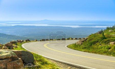 Cadillac Mountain drive in Acadia