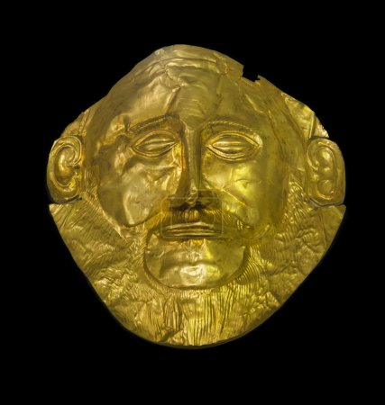 The golden mask of Agamemnon, the king of Mycenae ...