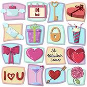 Valentinky den ikony prvky návrhu