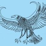 Tattoo tribal birds vector art...