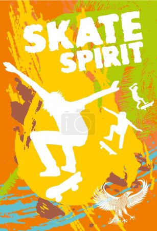 Illustration for Urban skate spirit vector art - Royalty Free Image