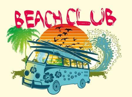 Palm beach van vector art
