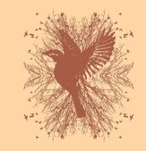 Black background birds life vector art