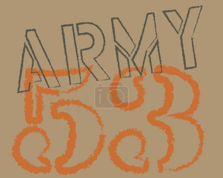 Army graphic text vector art