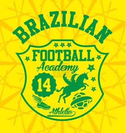 Illustration for Brazilian football badge vector art - Royalty Free Image