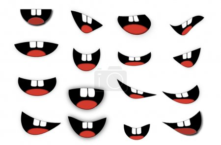 Vector Cartoon mouth set