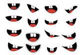 Vector Cartoon mouth set