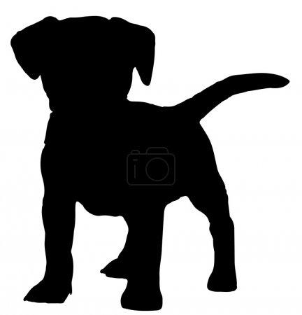 Illustration pour Vecteur de silhouette pour chien - image libre de droit