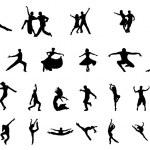 DANCER SILHOUETTE VECTOR SET...
