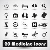 Medicína ikony