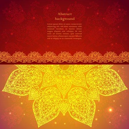 Golden ethnic indian background.