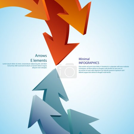 Abstract arrows. Detailed can be used for infographics graphic or advertise layout vector illustration