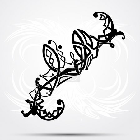 Maori styled tattoo pattern fits for a shoulder or an ankle.
