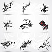 Sada super 9 tribal tetování