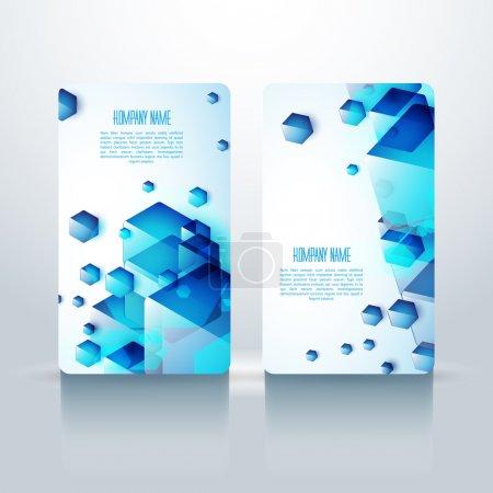 Illustration for Professional and designer vesrtical business card set or visiting card set. EPS 10. - Royalty Free Image