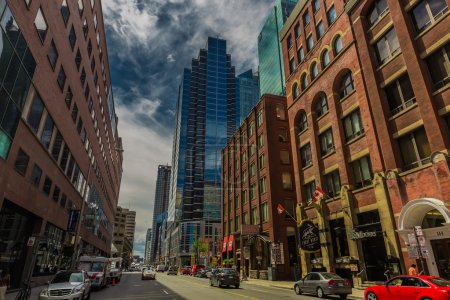 The downtown of Toronto city in a cloudy day, Onta...