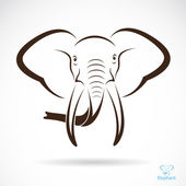 Vector image of an elephant head