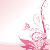 Růžové květinové