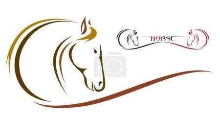 Illustration pour Image vectorielle d'un cheval - image libre de droit