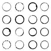 Vector set grunge circle brush strokes for frames