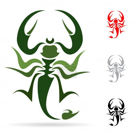 Illustration for Tattoo in the form of the stylized scorpion - Royalty Free Image