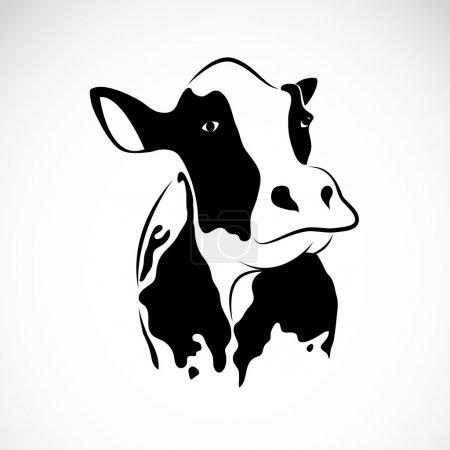 Illustration pour Image vectorielle d'une vache sur fond blanc - image libre de droit