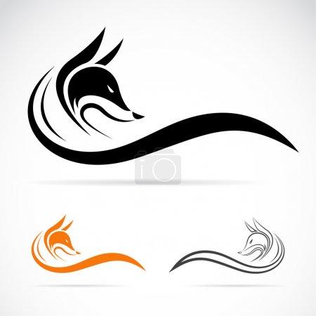 Illustration pour Image vectorielle d'un renard sur fond blanc - image libre de droit
