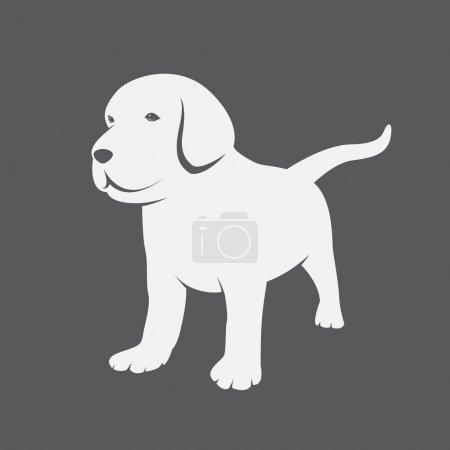 Illustration pour Image vectorielle d'un chiot du Labrador - image libre de droit