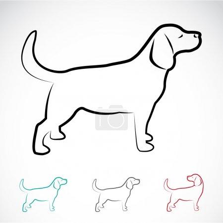 Vector image of a dog labrador