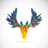 Vector image of an deer head design on white background