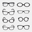 Vector group of an Glasses on white background....