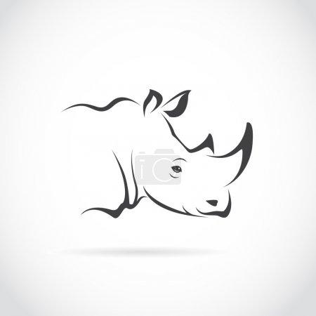 Vector image of rhino head