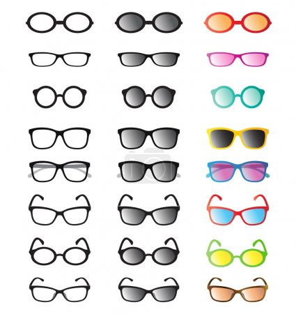 Vector group of an glasses and sunglasses