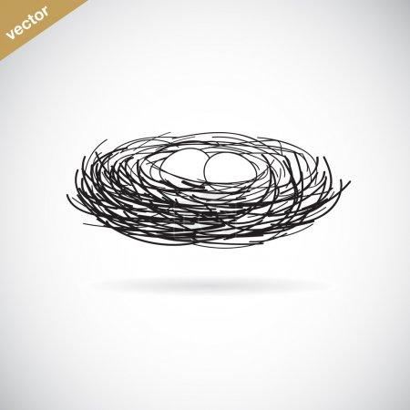 Vector image of an bird's nest
