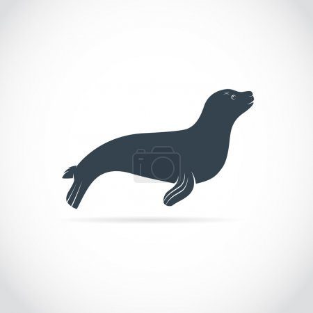Illustration for Vector images of sea lion on a white background - Royalty Free Image
