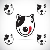 Vector images of Bull terrier face