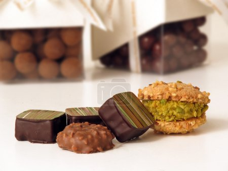 Photo for Assorted confectionery chocolate and cookies - Royalty Free Image