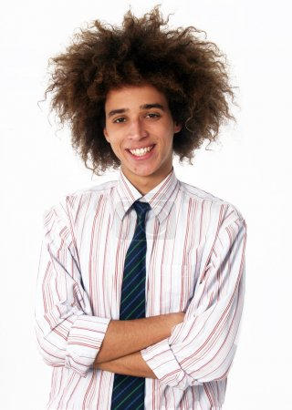 Particular style business young man portrait