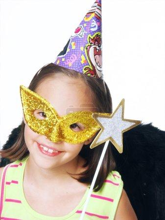 Carnival little girl portrait.