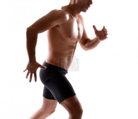 Photo for Healthy and fitness man running - Royalty Free Image