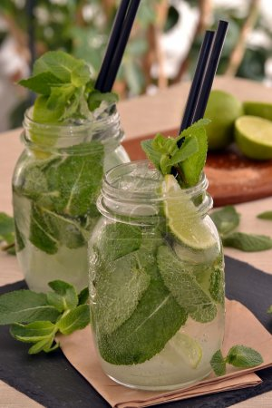 Mojito cocktail drink