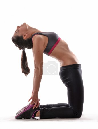 Fitness stretching latin woman