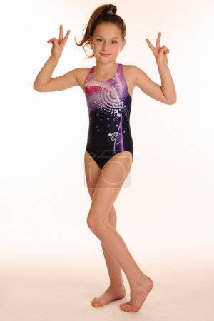 Little gymnast posing