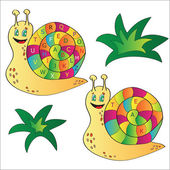 Vector illustration of a snail - a puzzle for child