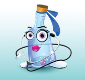 The Mrs Bottle Medical character - a cartoon doctor bottle Suitable for kids education or any purpose EPS10