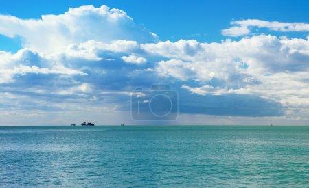 Italian Riviera coast of the Ligurian Sea