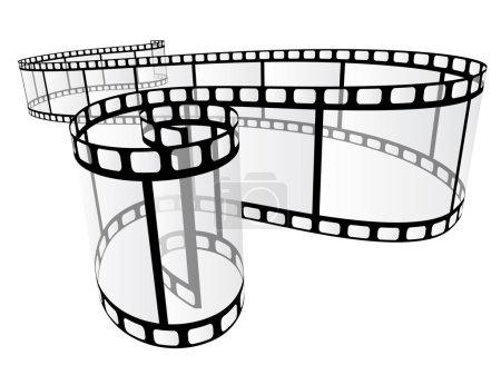 Photo pour Film photographique incurvé - image libre de droit