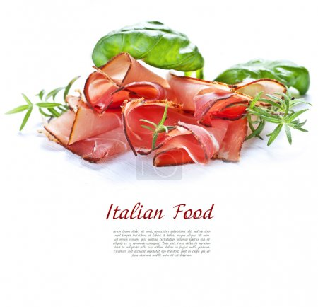 Photo for Parma ham on the table - Royalty Free Image